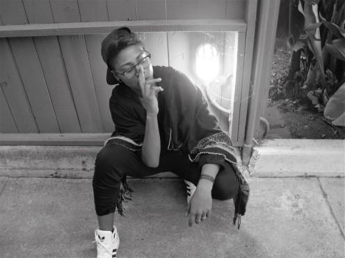 Contemplation, Afrika Sharif, Model, West Hollywood,