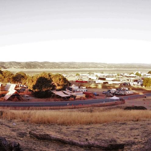 sunrise pano, LIB, Bradley, CA